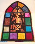 QUILT WINDOW BABY JESUS IN A MANGER NATIVITY SCENE CHRISTMAS    5