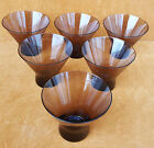 lot of 6 vintage mid century Normandie glass by Morgantown Glass