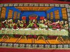 New RTC Last Supper Tapestry FABRIC Table Altar Cover Wall Velvet 35 x 59 LK