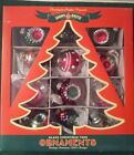 12 CHRISTOPHER RADKO SHINY BRITE FEATHER CHRISTMAS TREE ORNAMENTS