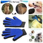 Pet Grooming Glove Brush Hair Remover Dog Cat Mitt Fur Massage Deshedding 1 Pair