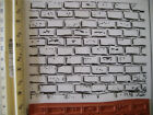BRICK WALL LARGE BACKGROUND 4 x 5 inches UN MOUNTED rubber stamp