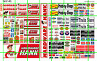 NH143 DAVE'S DECALS 1/2 Set N SCALE HARDWARE HANK HOBBY SHOP TRAIN STORE SIGNAGE
