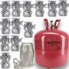 Helium Balloon Pump Tank for balloons + 12 Balloon Weights+ White Curling Ribbon