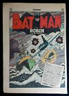 Batman 24 Single page Splash page from Convict Cargo Bob Kane art Aug 1944