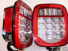 76-06 WRANGLER CJ YJ TJ LED clear lens TAIL LIGHTS FITS JEEP TRAILER OFF ROAD