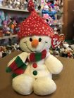"""Ty FREEZIE -White Holiday Snowman w/Red Hat 6"""" Beanie Baby! *Retired* RARE & HTF"""
