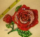 Dept 56 Bejeweled Flower Box RED ROSE - New In Box