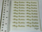 The Paper Studio MERRY CHRISTMAS GOLD SCRIPT Pack of 2 Sticker Sheets