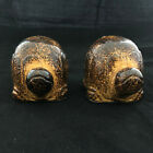 Adorable Brown Turtle Salt and Pepper Shakers with Stoppers Plugs