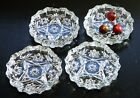 Anchor Hocking/PresCut/Clear Glass Coasters/Candle Plate/AshTray/Cottage Chic/ 4