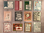 12 Year Round Holidays greeting cards envelopes Jan Dec Stampin Up + more