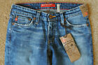 BIG STAR FLARY JEANS 25X33 NWT165 Stretch Vintage Bleached Distress Wash Logos