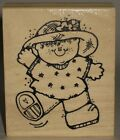 Hooks Lines  Inkers Rubber Stamp Waving Little Boy Freckles 25 x 3