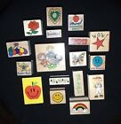 Lot of 17 Wood Mounted Rubber Stamps Scrap booking Embossing Grading