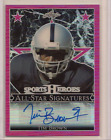 TIM BROWN 2017 LEAF SPORTS HEROES METAL ALL-STAR SIGNATURES PINK AUTO 4