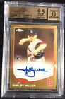 2013 Topps Chrome Gold Refractor Autograph Shelby Miller RC Auto 50 BGS 9.5