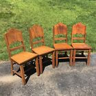 4 Wood Dining Chairs for Vintage 1940s Porcelain Enamel Dining Table Antique
