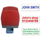 Custom Name Address Self Inking Rubber Stamp Signature Office 31x10mm 1 3 lines