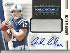2012 ROOKIES AND STARS ANDREW LUCK ROOKIE AUTOGRAPH PATCH #d 47 49!! COLTS!!