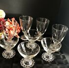 8 Anchor Hocking Boopie Glasses 4 Ea Water /tall Sherbet Champagne Clear Set