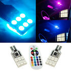 2X T10 921 High Power RGB LED Multi-Color Parking Interior Light Bulbs Canbus EA