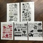 Clear Stamp Lot BABY  KIDS Puppy Trains Teddy Bear Boy Girl Bicycle Animals Dog