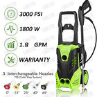 3000PSI High Power Water Electric Pressure Washer 1800W 18 GPM Cleaner Machine