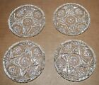 Set of Vintage Anchor Hocking Early American Press Cut Glass Coasters