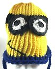 Minion Halloween Hat Beanie Toboggan Despicable Me Crazy Hat Day Hand Crocheted