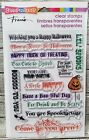 Stampendous Spooky Wishes Clear Stamp Set Halloween Greetings Sayings Phrases