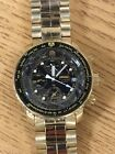 Seiko Flight Master Watch Gold Tone