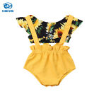 US Sale Infant Baby Girl Clothes Floral Crop Top Halter Shorts Summer Outfit Set