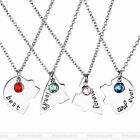 4pc set Heart Puzzle Best Friends Forever and Ever Pendant Necklace Jewelry Gift