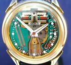 Bulova Accutron 214 Spaceview custom GP/ss watch with new leather strap 1974