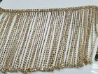 Rhinestone Crystal Chain Fringe 4 Inches gold sold By 1 Yard