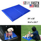 Pet Cooling Pad Gel Mat Cooler For Dog Cat Crate Bed Comfort Chilly Beds L XL US