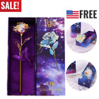 Galaxy Rose Flower with Love Base Valentines Day Lovers Gift Romantic US STOCK