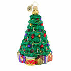 Christopher Radko Ornament TINDER TROVE TREE Christmas Packages GREEN Glass NEW