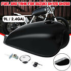 Motorcycle Cafe Racer 9L 2.4 Gallon Fuel Gas Tank Cap Kit For Suzuki GN125 GN250