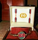 VINTAGE~AUTHENTIC~GUCCI WOMEN'S ROPE BRACELET WATCH 1990'S~BOX & PAPERS