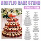 7 Tier Acrylic Cake Cupcake Stand Tray Dessert Display Tower Plate Wedding Party