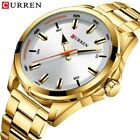 Reloj Hombre acero CURREN Gold Watch Men Simple Business Design Stainless