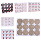 120Pcs Floral Thank You Label Flower Seal Adhesive Sticker Packaging Tag Decor