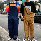 Vintage Mens Cotton Casual Loose Suspender Overalls Pants Wide Leg Trousers HOT