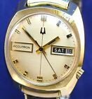Bulova Accutron 2182 vintage 1972 d/d 10k RGP watch with matched Speidel band