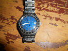 SWATCH  IRONY ALL SS SWISS ETA MVT NICE BLUE DIAL WITH MINUTE TRACK SS BAND