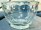 INDIANA Pressed GLASS 1940s Clear Teardrop Scalloped Mayonnaise Bowl Vintage