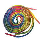 2Pcs Rainbow Polyester Flat Athletic Shoelaces Sport Sneaker Shoes Strings Laces