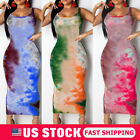 Women's Ladies Boho Long Maxi Dress Evening Party Beach Bodycon Dresses Sundress